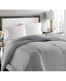 Blue Ridge 500-Thread Count Damask Stripe White Down Comforter