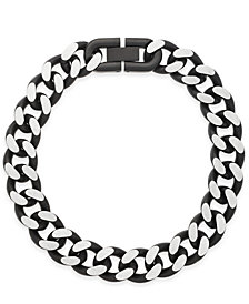 Sutton by Rhona Sutton Men's Stainless Steel Large Link Bracelet