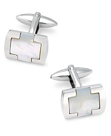 Sutton by Men's Stainless Steel & Mother-of-Pearl Cufflinks