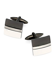 Sutton by Men's Two-Tone Stainless Steel Cufflinks