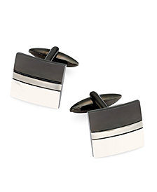 Sutton by Rhona Sutton Men's Two-Tone Stainless Steel Cufflinks