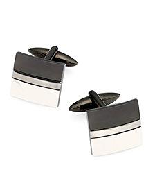 Sutton by Rhona Sutton Men's Two-Tone Stainless Steel Cufflinks