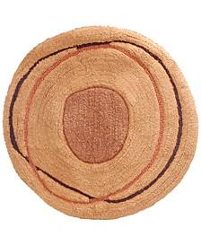 "Dot Swirl 27"" Round Bath Rug"