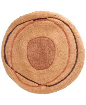 "Creative Bath Dot Swirl 27"" Round Bath Rug Bedding"