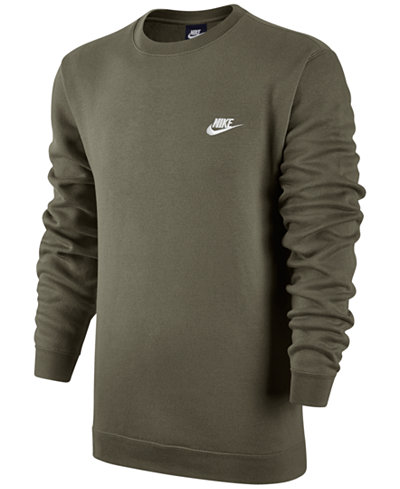 Nike Men's Crewneck Fleece Sweatshirt - Hoodies & Sweatshirts ...