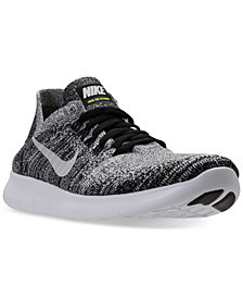 Nike Big Boys'   Free Run Flyknit 2017 Running Sneakers from Finish Line