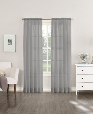 """No. 918 Sheer Voile 59"""" x 95"""" Rod Pocket Curtain Panel"""