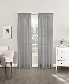 """Lichtenberg No. 918 Sheer Voile 59"""" x 95"""" Rod Pocket Curtain Panel"""