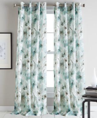 "Modern Bloom 50"" x 95"" Curtain Panel"