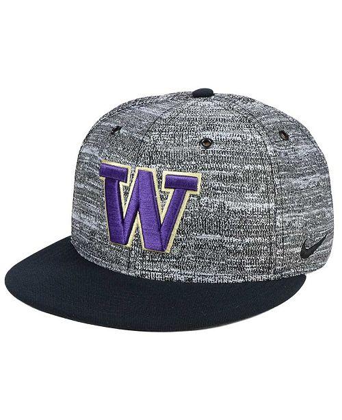 Nike Washington Huskies Col True Heathered Snapback Cap