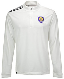 adidas Men's Orlando City FC 3-Stripe Quarter-Zip Pullover