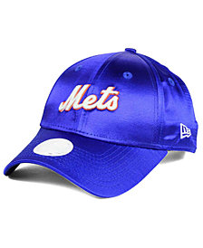 New Era Women's New York Mets Satin Team Charmer 9FORTY Strapback Cap