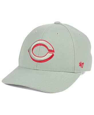 '47 Brand Cincinnati Reds MVP Gray TC Pop Cap