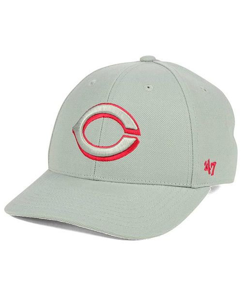 '47 Brand Cincinnati Reds MVP Gray TC Pop Cap