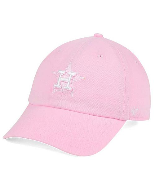 '47 Brand Houston Astros Pink/White CLEAN UP Cap