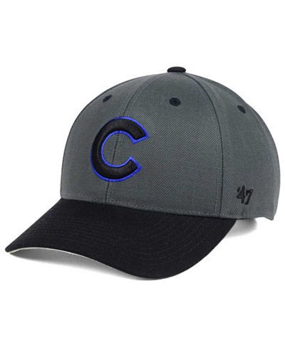 '47 Brand Chicago Cubs 2Tone Charcoal/Black Pop MVP Cap