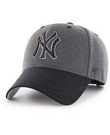'47 Brand New York Yankees 2Tone Charcoal/Black Pop MVP Cap