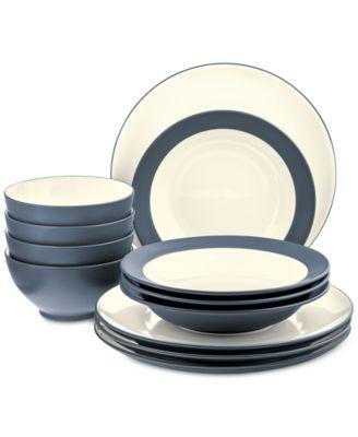 noritake colorwave 12piece dinnerware set created for macyu0027s - Noritake Colorwave