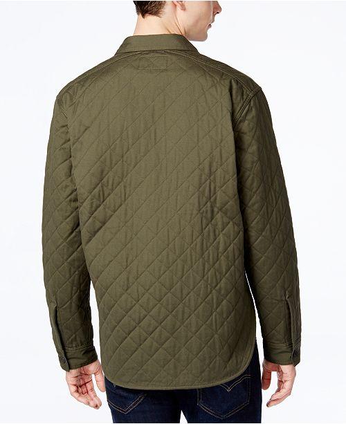 Levis Mens Quilted Shirt Jacket Coats Jackets Men Macys