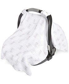 Baby Boys & Girls Elephant-Print Cotton Car Seat Canopy