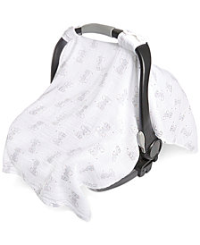 aden by aden + anais Elephant-Print Cotton Car Seat Canopy, Baby Boys & Girls