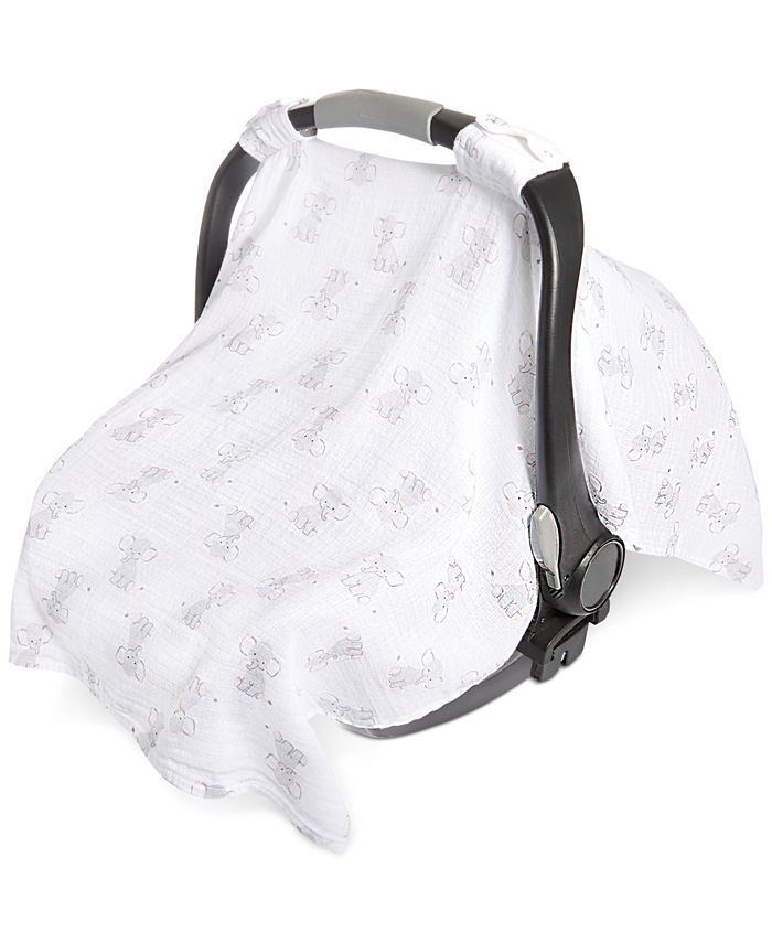 aden by aden + anais - Elephant-Print Cotton Car Seat Canopy, Baby Boys & Girls (0-24 months)