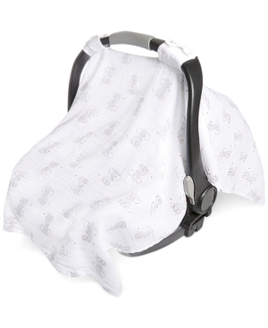 Aden By Aden + Anais Baby Boys & Girls Elephant-print Cotton Car Seat Canopy In White