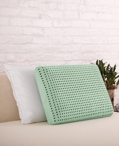 CLOSEOUT! Authentic Comfort® Jumbo Green Tea Memory Foam Pillow
