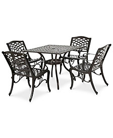 Kerine 5-Pc. Dining Set, Quick Ship
