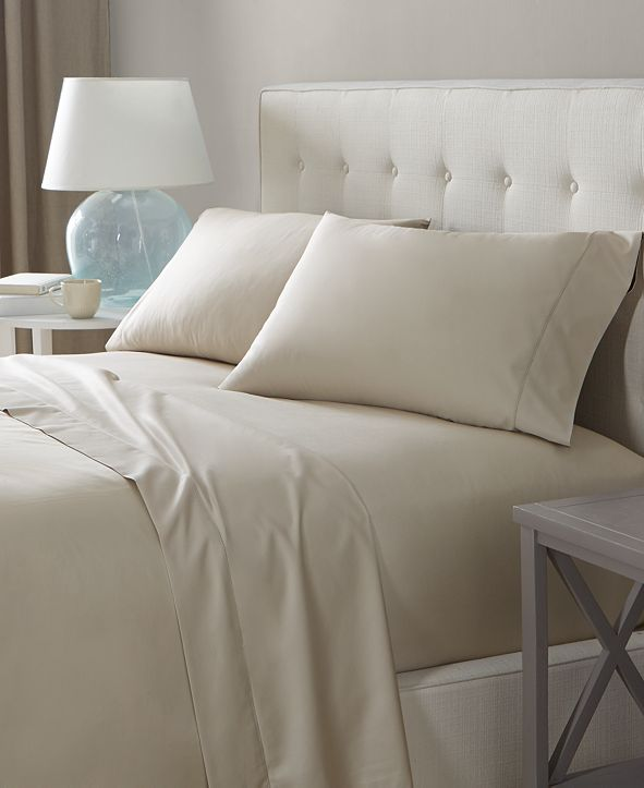 Charter Club Solid Open Stock Sheets, 550 Thread Count 100% Supima Cotton, Created for Macy's