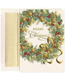 Masterpiece Studios Painted  Wreath Set of 16  Boxed Greeting Cards with Envelopes