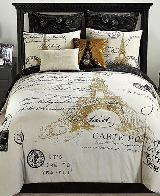 Paris Reversible 8 Pc Gold Comforter Sets Bed In A Bag