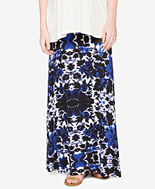 Design History Maternity Printed Maxi Skirt