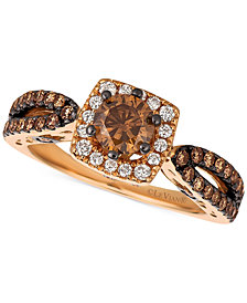 Le Vian Chocolatier® Diamond Engagement Ring (1-1/5 ct. t.w.) in 14k Rose Gold
