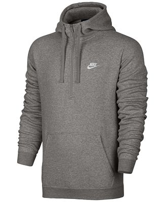 Nike Men's Half-Zip Hoodie - Hoodies & Sweatshirts - Men - Macy's