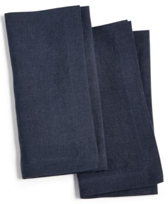 Modern Navy 2-Pc. Linen Napkin Set, Created for Macy's