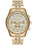 Michael Kors Men's Chronograph Lexington Gold-Tone Stainless Steel Bracelet Watch 44mm MK8579