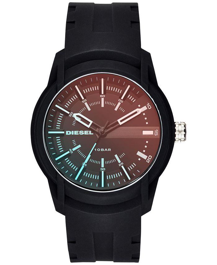 Diesel - Men's Armbar Black Silicone Strap Watch 45mm DZ1819