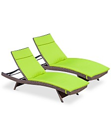 Farron Cushion Adjustable Lounge (Set of 2), Quick Ship