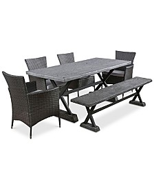 Kelson 6-Pc. Dining Set, Quick Ship