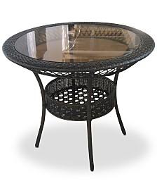"Nesten 34"" Glass Table, Quick Ship"