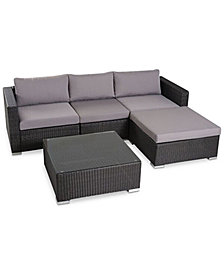 Aldin Outdoor 5-Pc. Sofa Set, Quick Ship