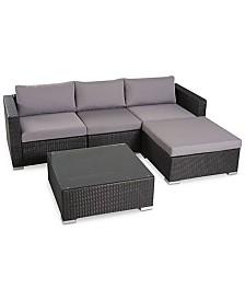 Aldin Outdoor 5-Pc. Sofa Set, Quick Ship