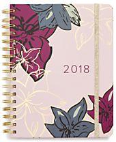 Vera Bradley Falling Flowers Large 17-Month Agenda