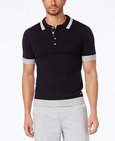 Sean John Men's Colorblocked Polo Sweater