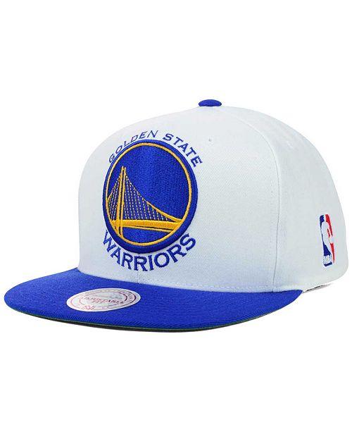 0400789f70 Mitchell   Ness Golden State Warriors XL Logo Snapback Cap ...