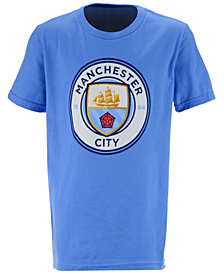 Outerstuff' Manchester City Club Team Primary Logo T-Shirt, Big Boys (8-20)