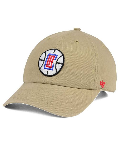 '47 Brand Los Angeles Clippers Khaki CLEAN UP Cap