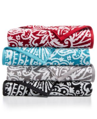 CLOSEOUT! Elite Cotton Fashion Paisley Washcloth, Created for Macy's