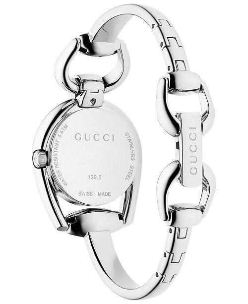 8e9024c264c ... Gucci Women s Swiss Horsebit Stainless Steel Bangle Bracelet Watch 28mm  YA139501 ...